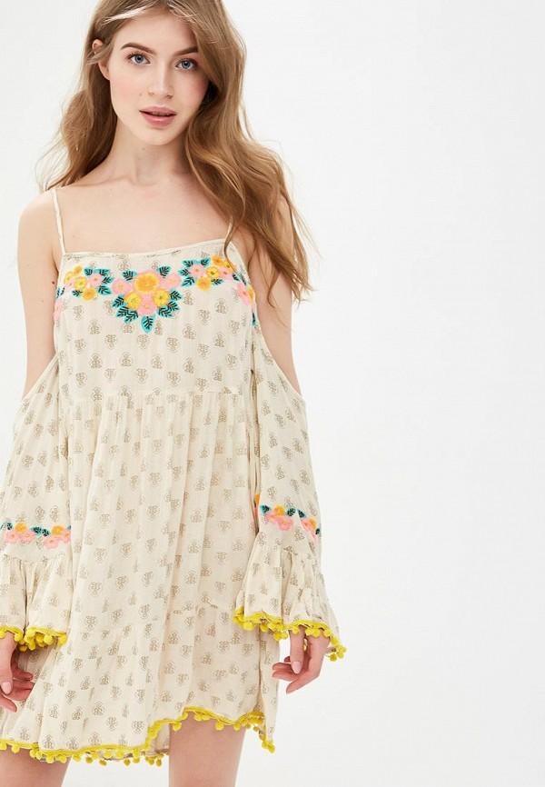 женское платье glamorous, бежевое