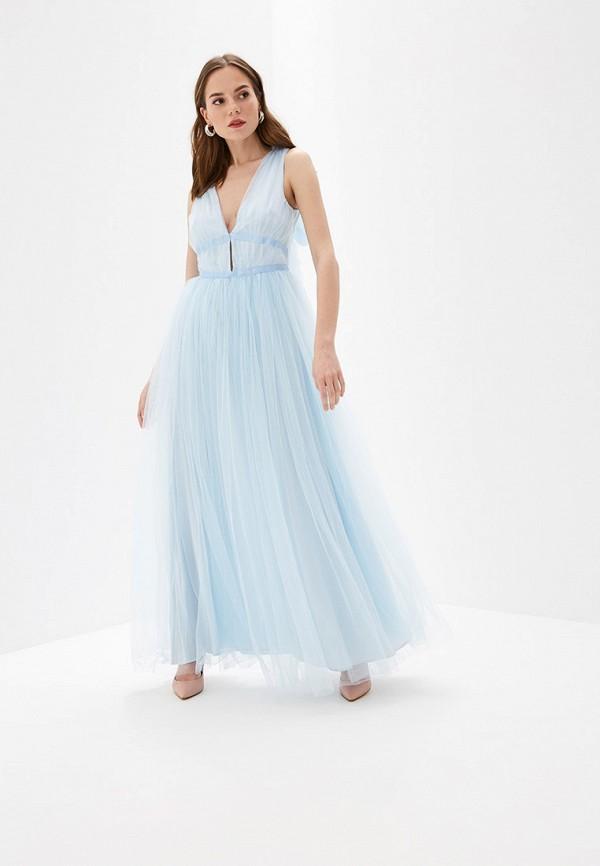 женское вечерние платье glamorous, голубое