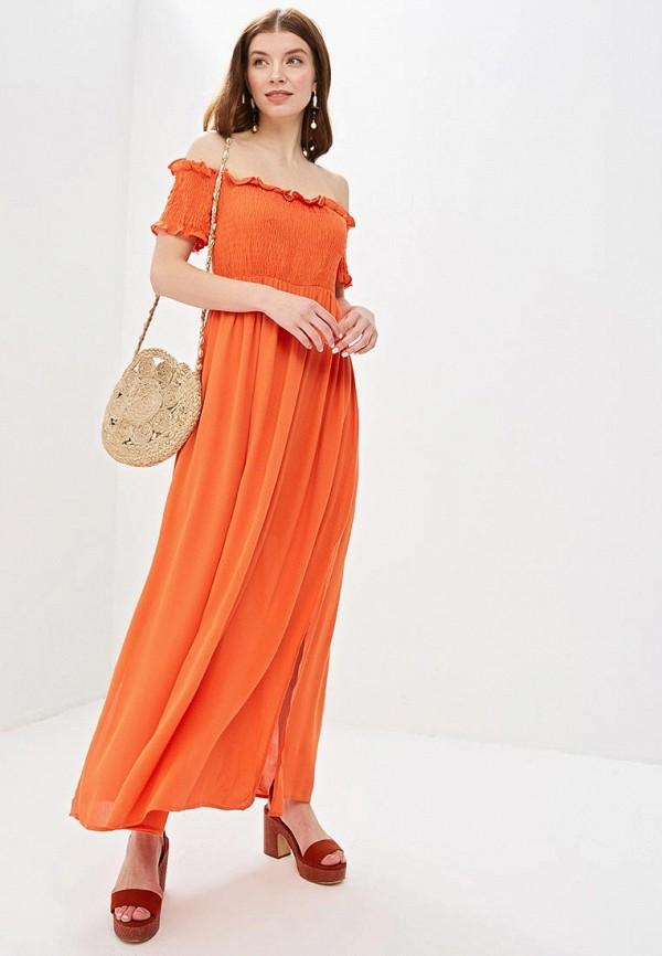 женское платье glamorous, оранжевое