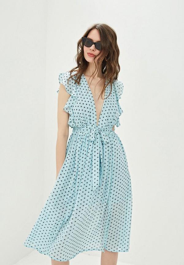 женское повседневные платье glamorous, бирюзовое
