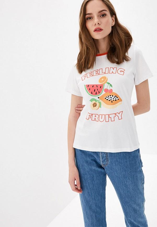 женская футболка glamorous, белая