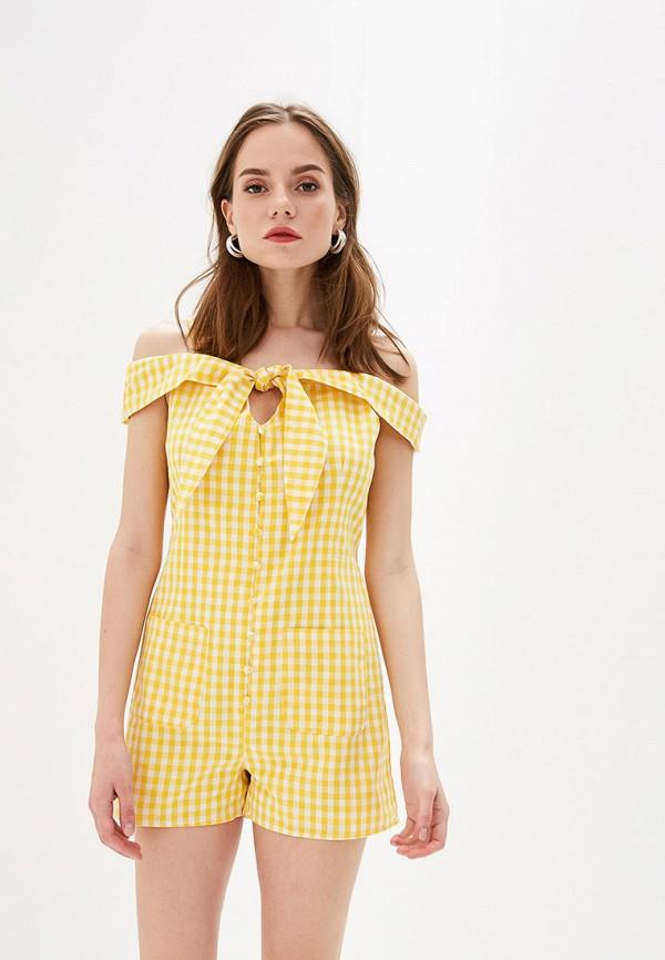 женский комбинезон glamorous, желтый
