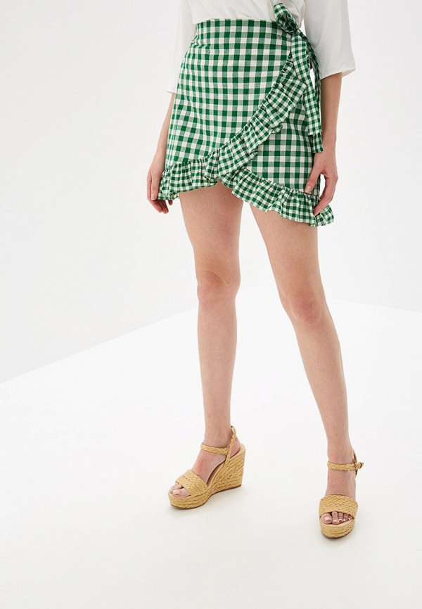 женская прямые юбка glamorous, зеленая