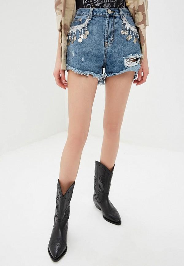 женские джинсовые шорты glamorous, синие