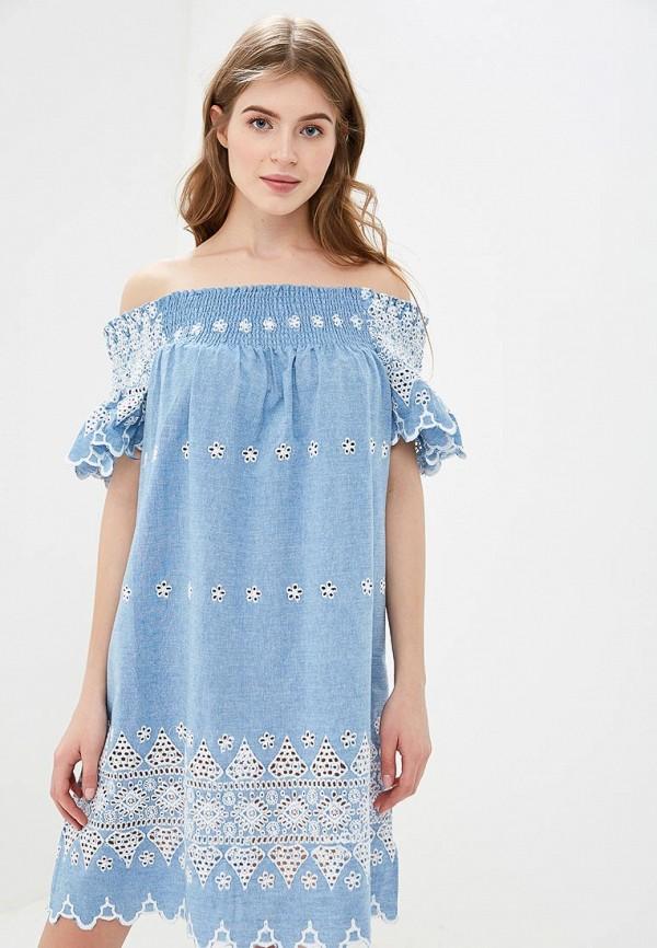 женское платье glamorous, голубое