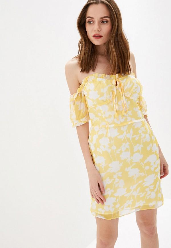 женское платье glamorous, желтое