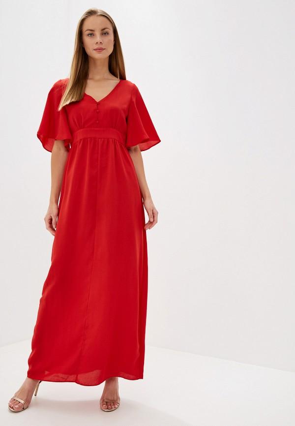 женское повседневные платье glamorous, красное