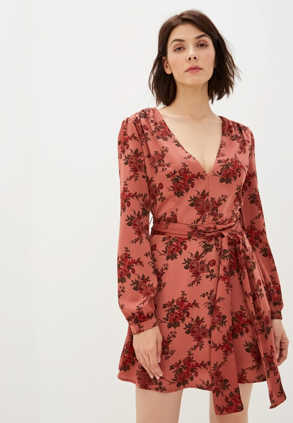 женское повседневные платье glamorous, коричневое