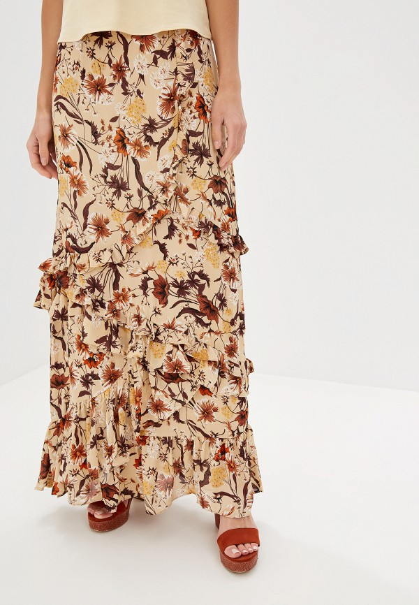 женская юбка glamorous, бежевая