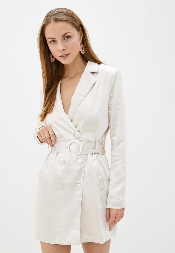 женское платье glamorous, серое