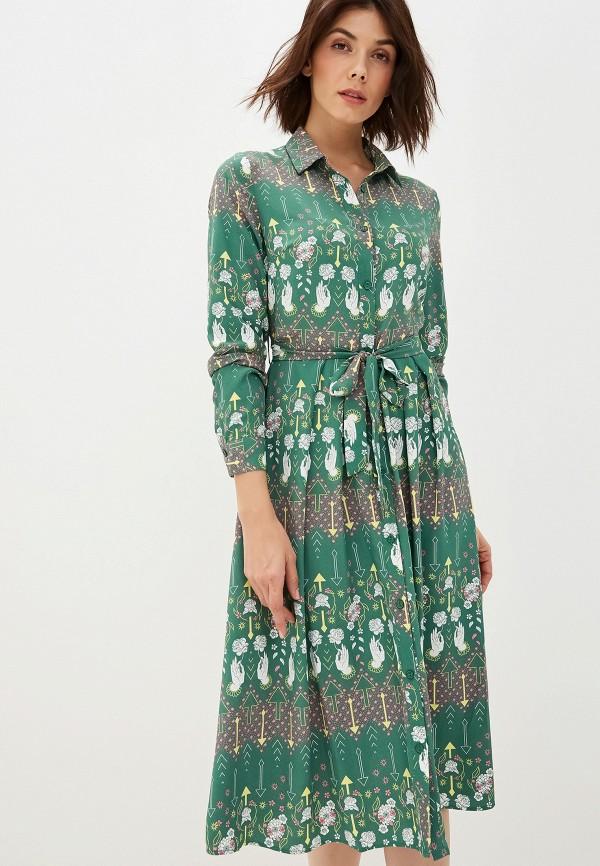 женское платье glamorous, зеленое