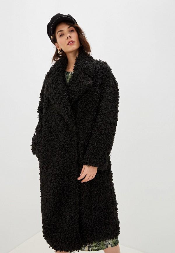 женская шуба glamorous, черная