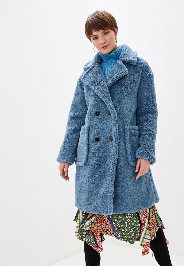 женская шуба glamorous, синяя