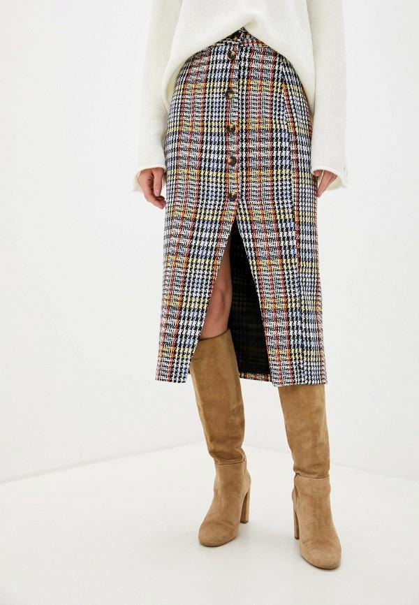 женская прямые юбка glamorous, разноцветная