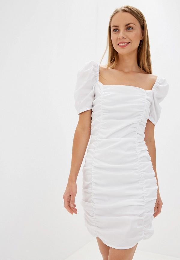 женское платье-футляр glamorous, белое