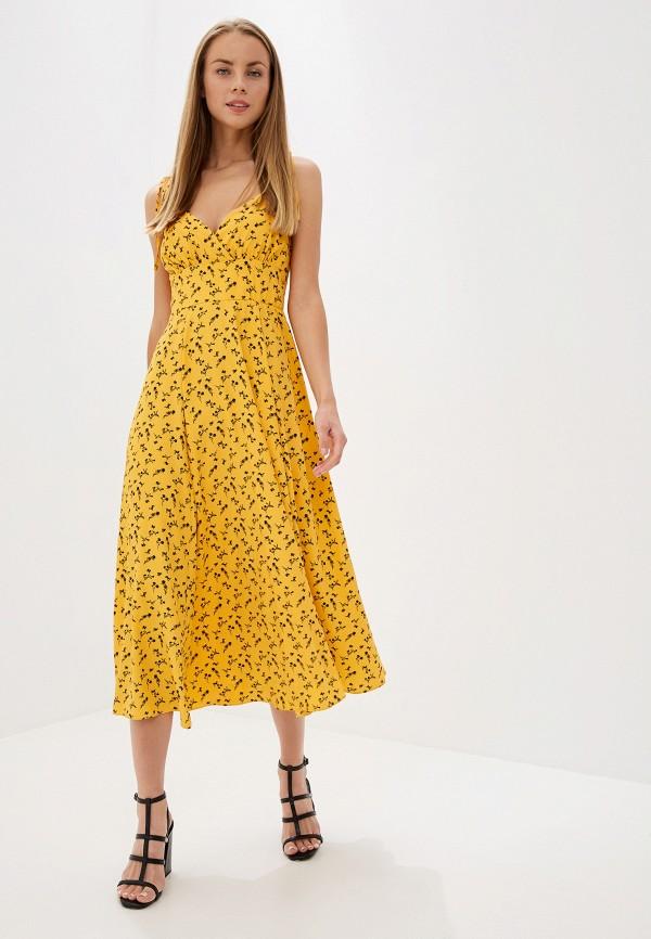 женский сарафан glamorous, желтый