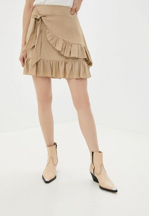 Купить Юбку Glamorous бежевого цвета