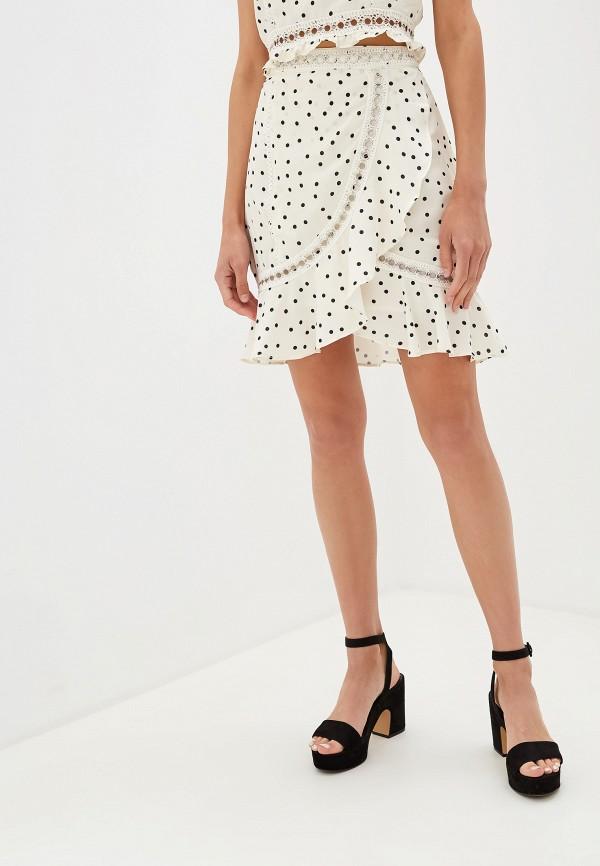 женская прямые юбка glamorous, бежевая