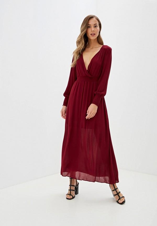 женское повседневные платье glamorous, бордовое