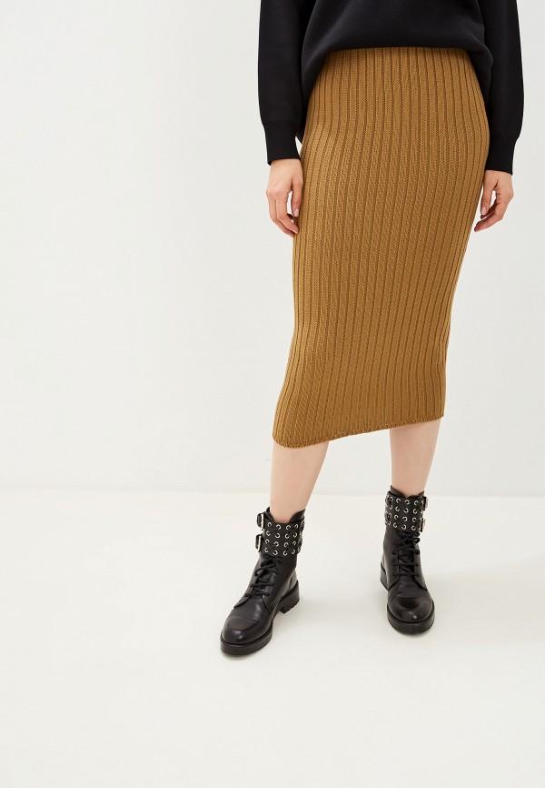 женская прямые юбка glamorous, коричневая