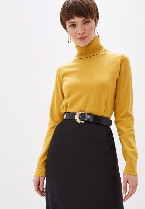 женская водолазка glamorous, желтая