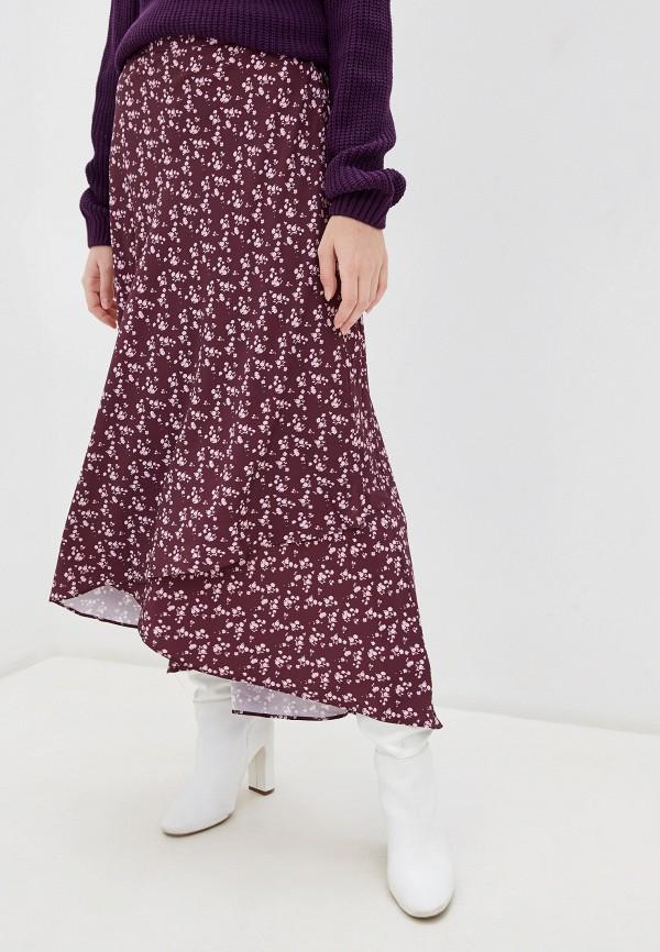 женская юбка glamorous, бордовая