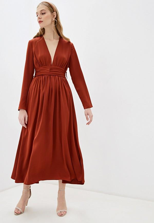 женское вечерние платье glamorous, коричневое