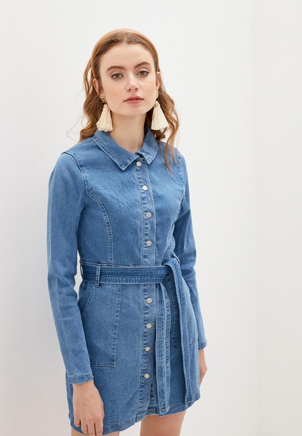 женское джинсовые платье glamorous, синее