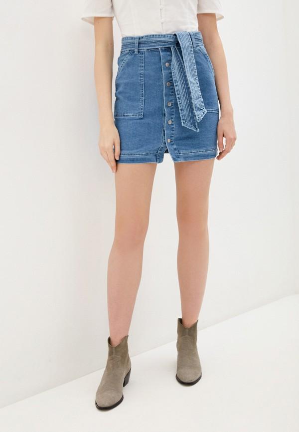 женская джинсовые юбка glamorous, синяя
