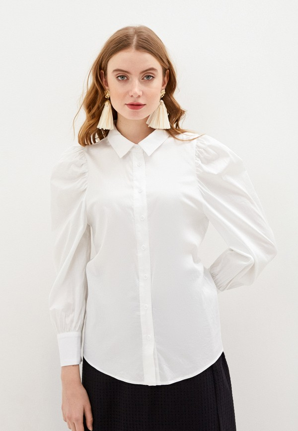 женская блузка с длинным рукавом glamorous, белая