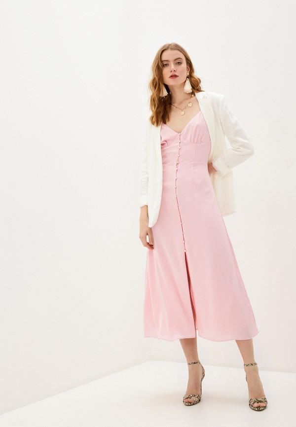 женское платье-комбинация glamorous, розовое