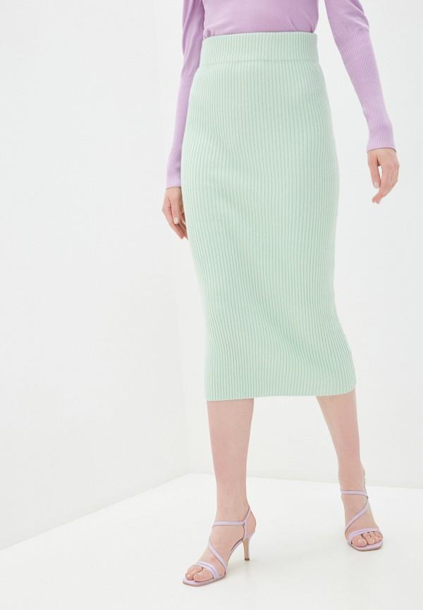 женская зауженные юбка glamorous, зеленая