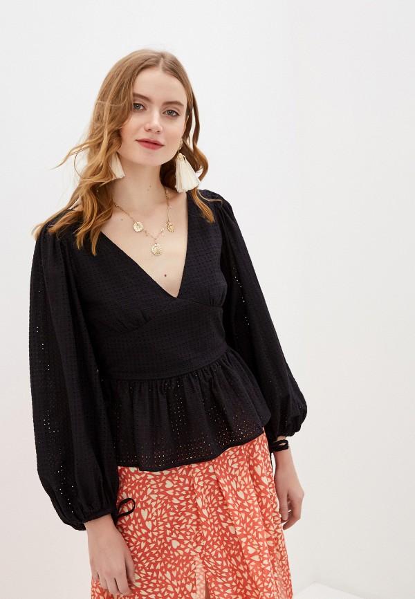 женская блузка с открытыми плечами glamorous, черная
