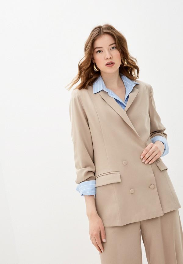 женский пиджак glamorous, бежевый