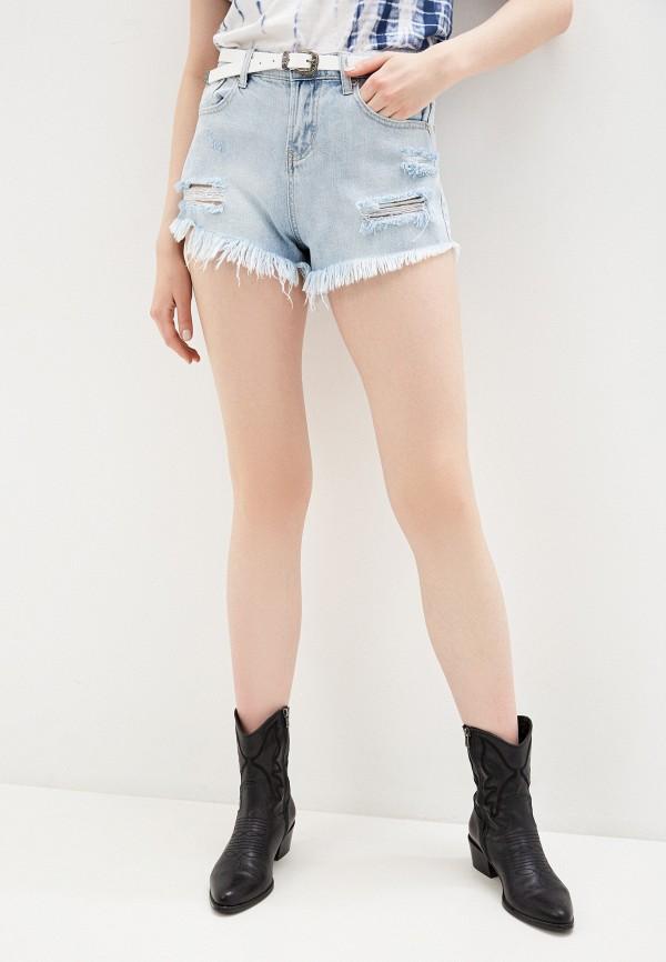 женские джинсовые шорты glamorous, голубые