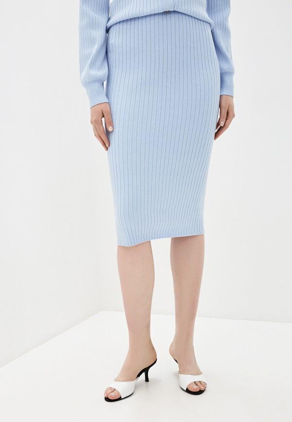 женская прямые юбка glamorous, голубая