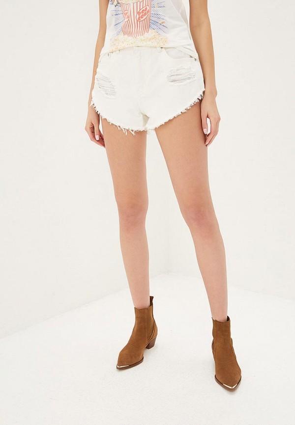 женские джинсовые шорты glamorous, белые
