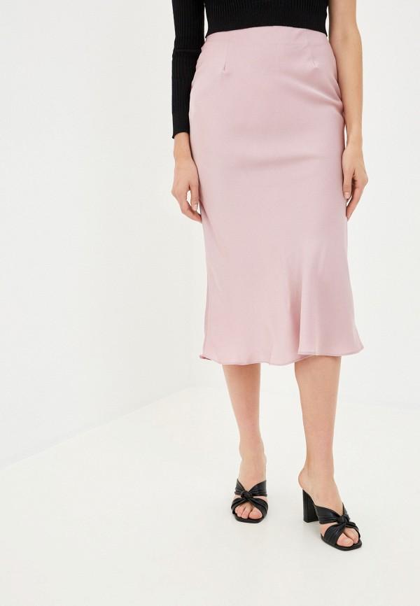 женская прямые юбка glamorous, розовая