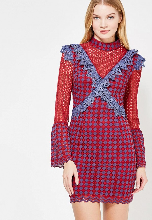 женское вечерние платье glamorous, бордовое