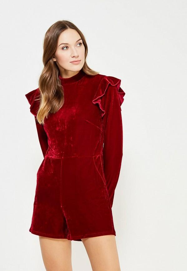 женский комбинезон glamorous, бордовый