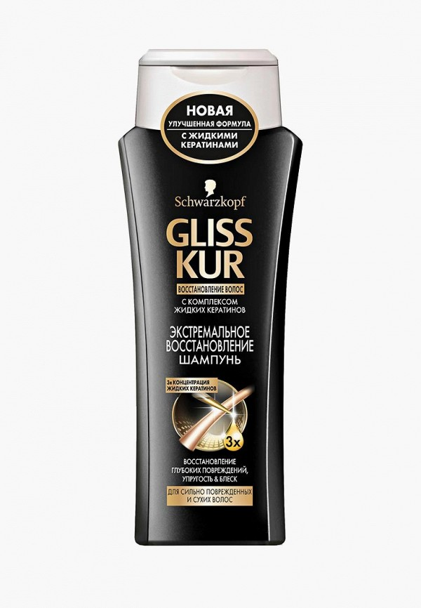 Шампунь Gliss Kur Gliss Kur GL011LWJOL82 schwarzkopf gliss kur bio tech restore weekly therapy rinse out intense treatment