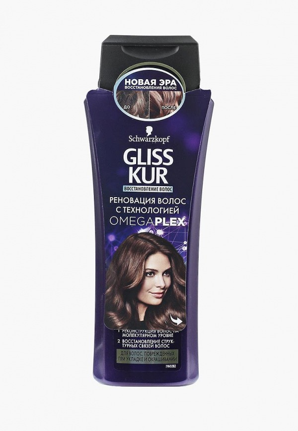 Шампунь Gliss Kur Gliss Kur GL011LWSII36 schwarzkopf gliss kur bio tech restore weekly therapy rinse out intense treatment