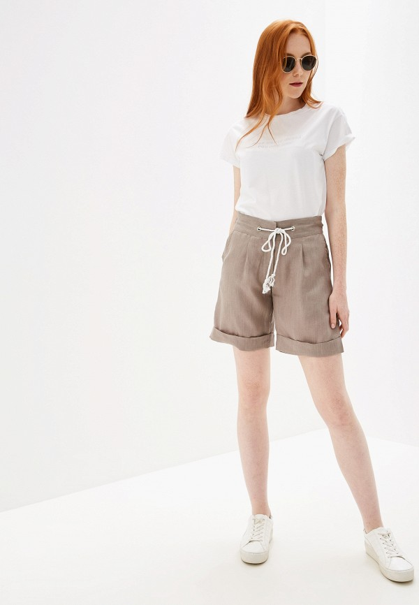 Фото 2 - Женские шорты Glenfield бежевого цвета