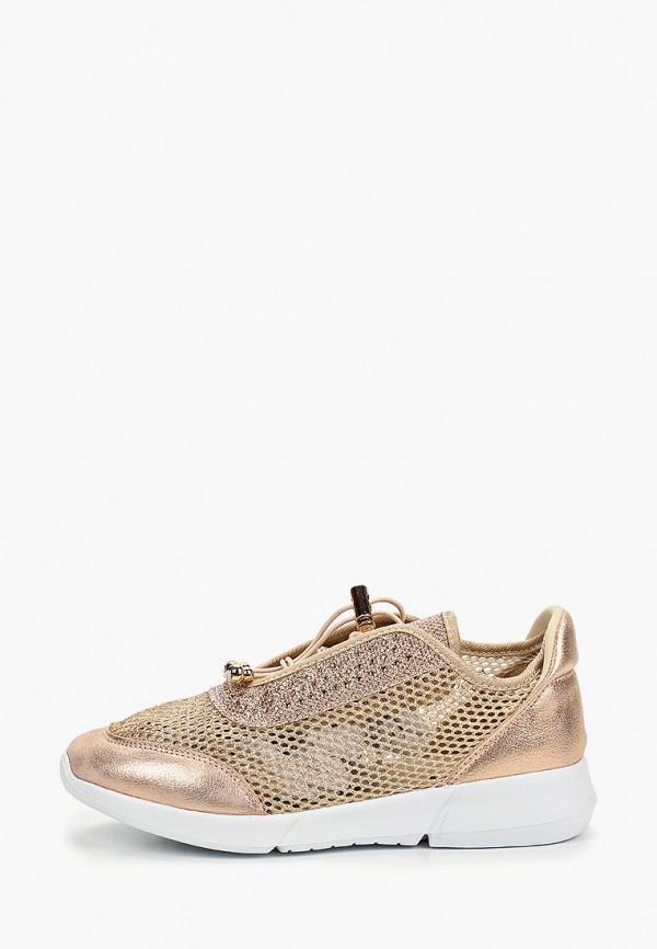 женские кроссовки glamforever, золотые