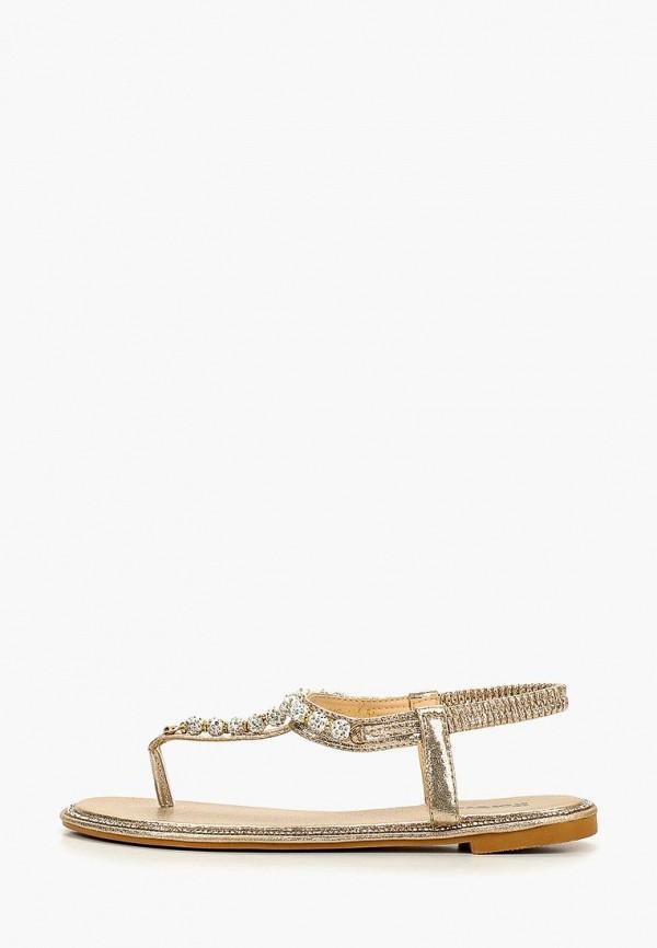 женские сандалии glamforever, золотые