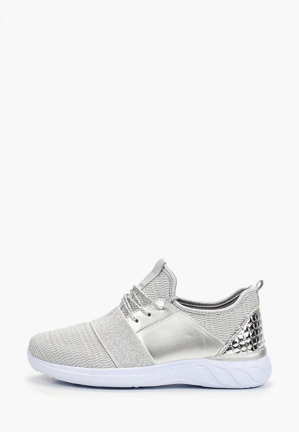 женские кроссовки glamforever, серебряные
