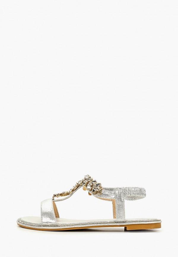 женские сандалии glamforever, серебряные