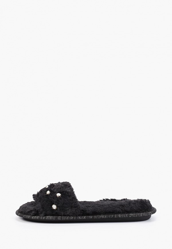 женские тапочки glamforever, черные