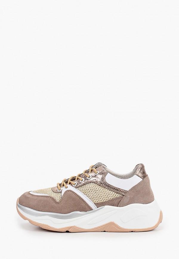 женские кроссовки glamforever, коричневые