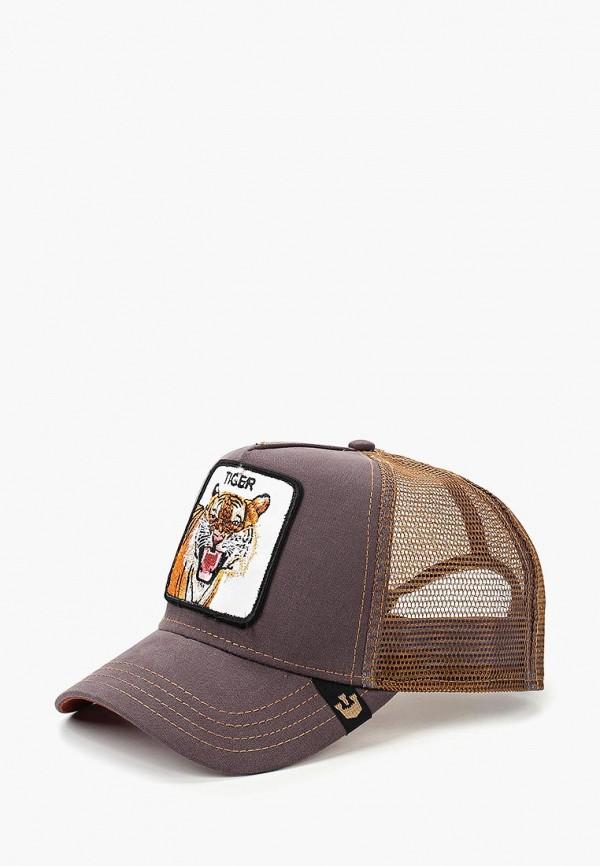 мужская бейсболка goorin brothers, коричневая